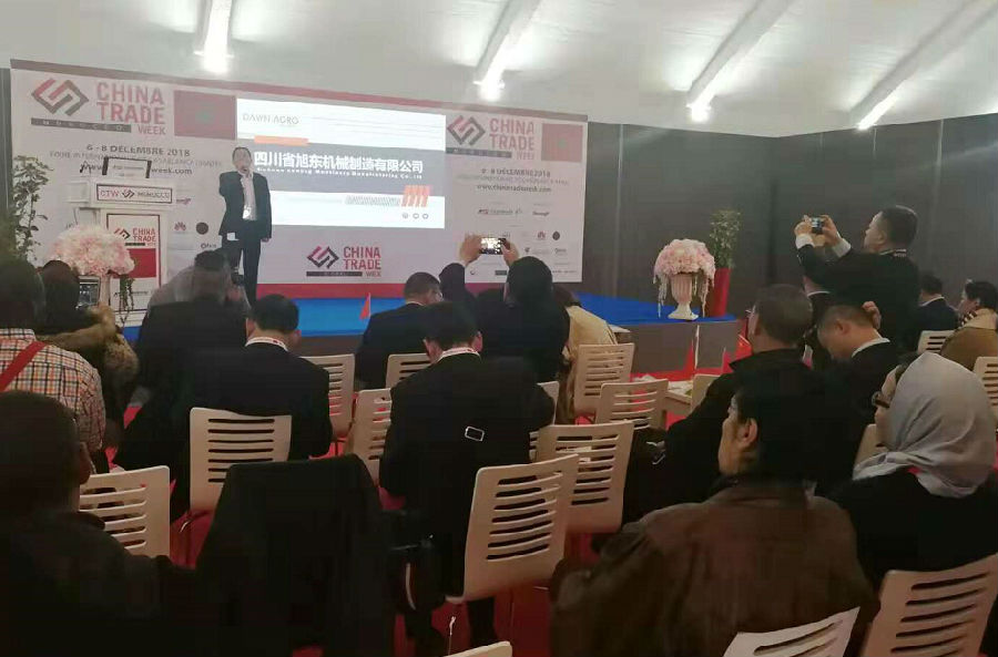 Morocco CTW- sichuan machinery chamber of commerce held a successful presentation
